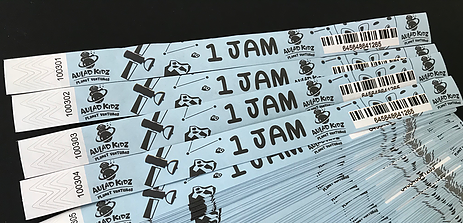 Barcode and Numbering TYVEK Wristbands