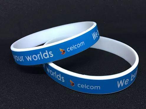 Full CMKY Printed Silicone Wristband