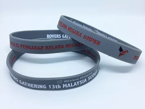 Inner Side Printing Silicone Wristband