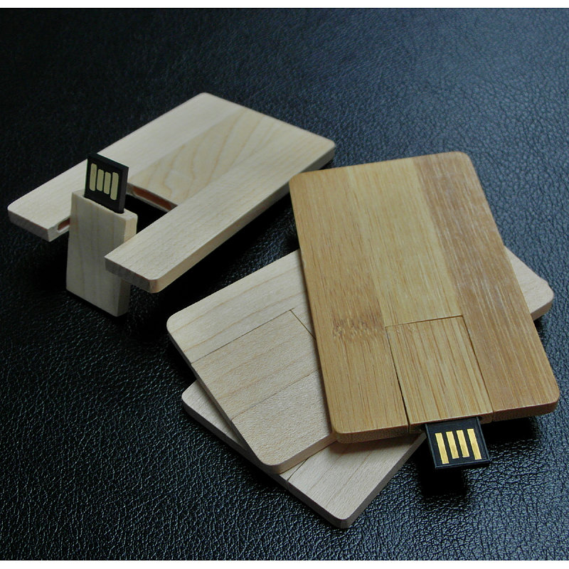 Wooden Card Size USB Thumb Drive