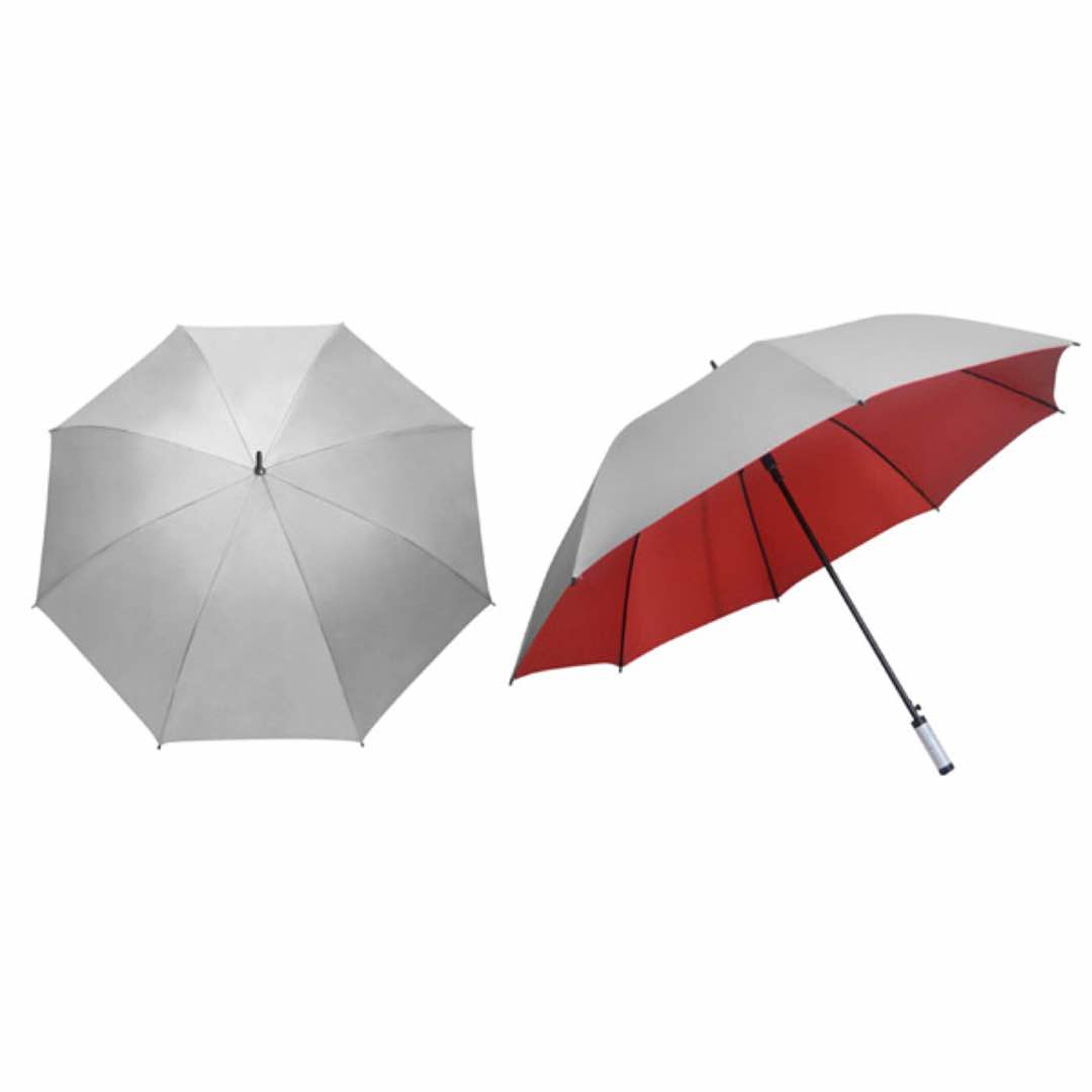 30inch Silver Auto Umbrella-Red