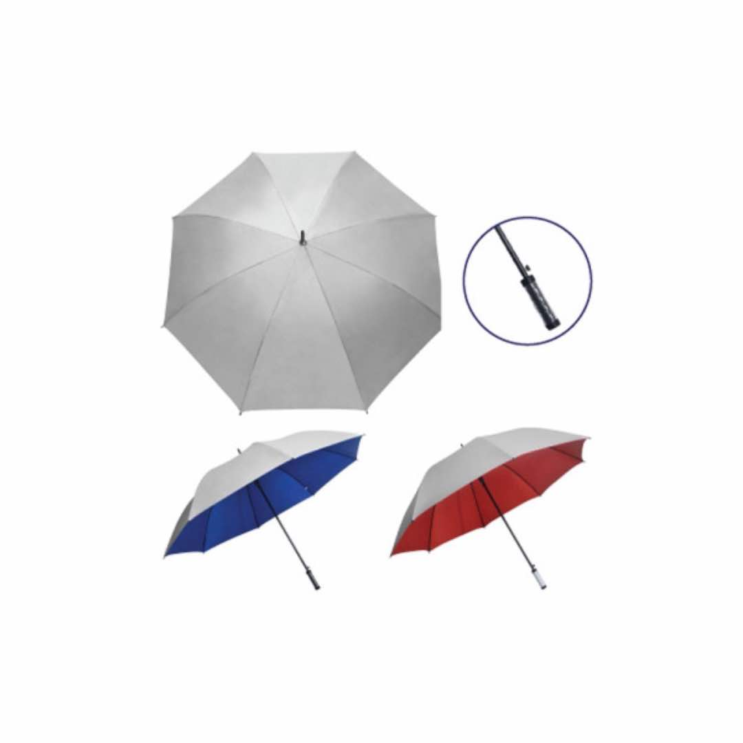 30inch Silver Auto Umbrella