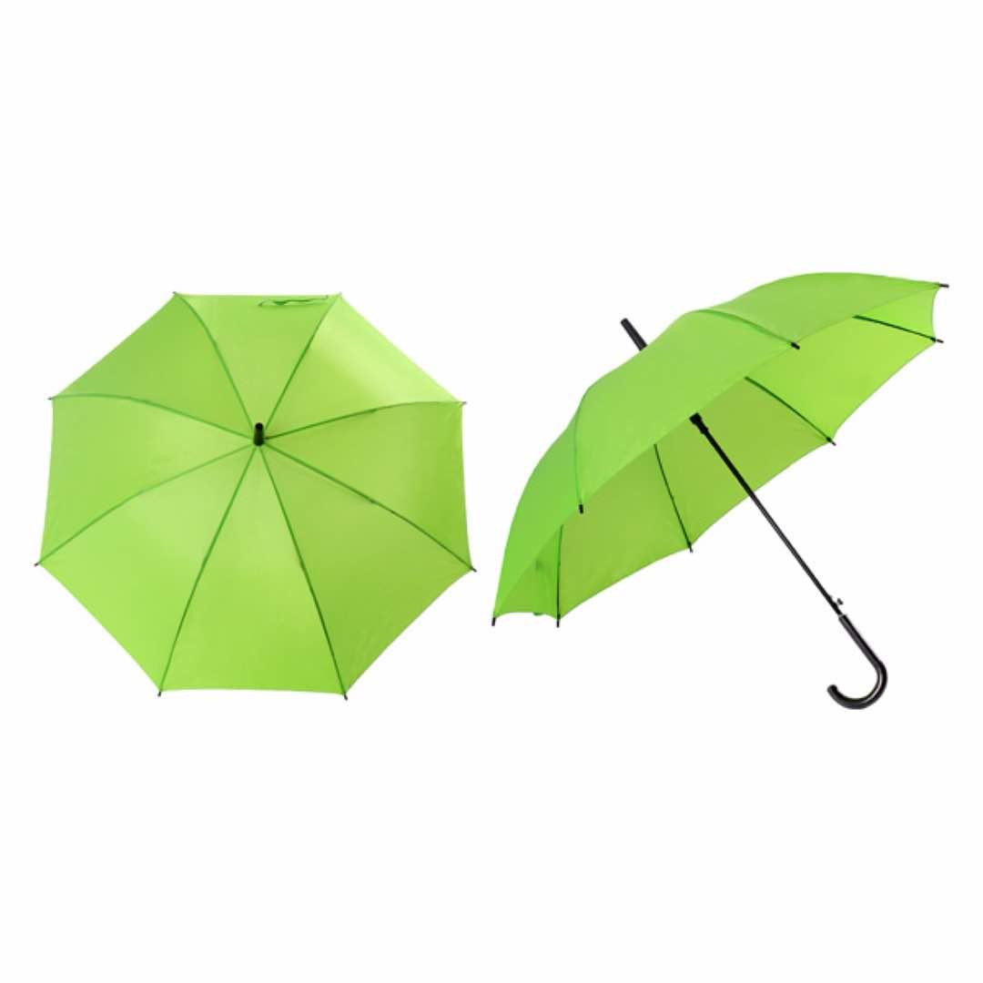 24inch Silver Coated Umbrella - Green