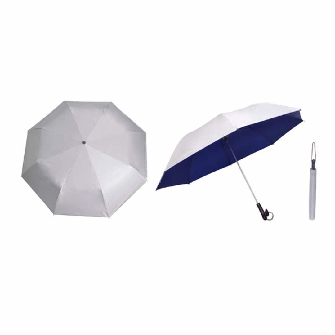 28inch Silver Coated Umbrella - Foldable (Blue)