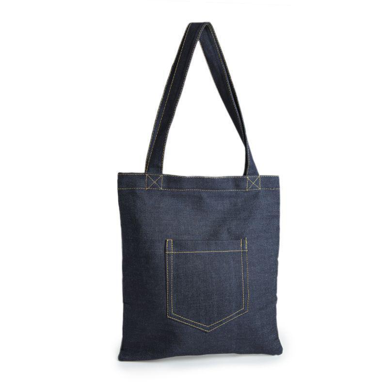 Custom Made Denim Shopping Bag 1