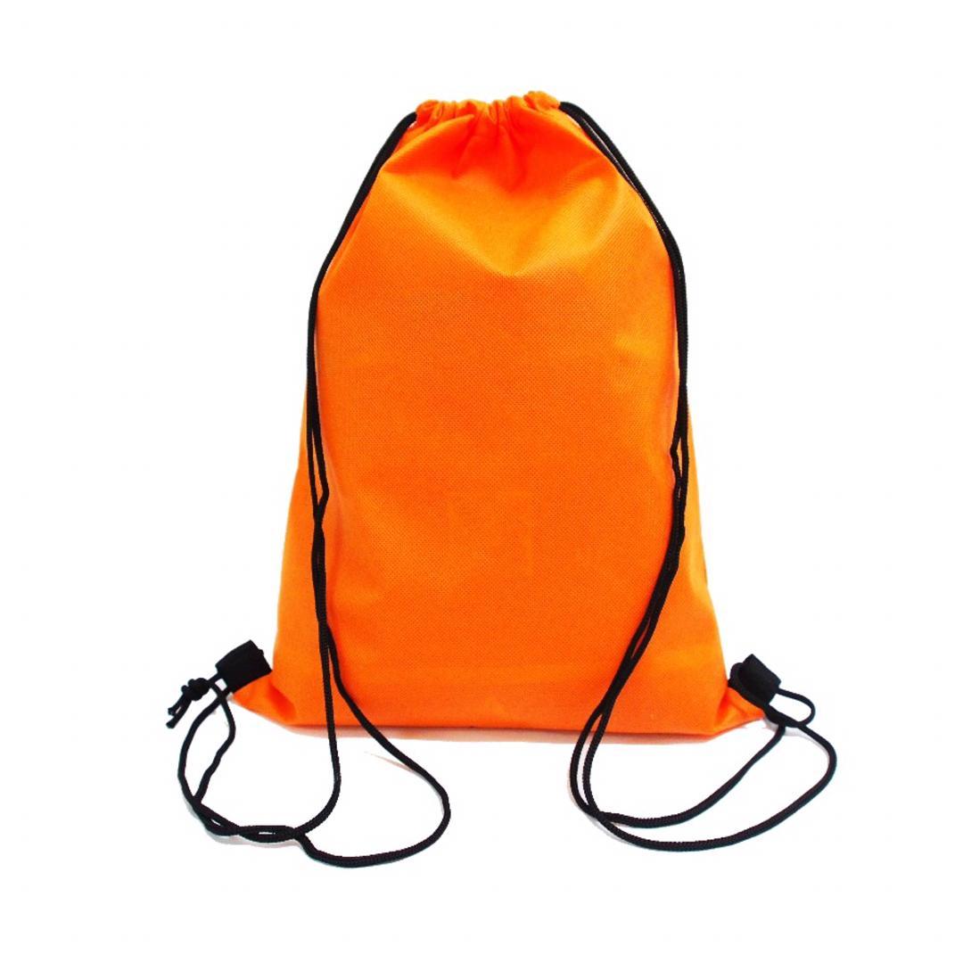 Orange Non Woven Drawstring Bag
