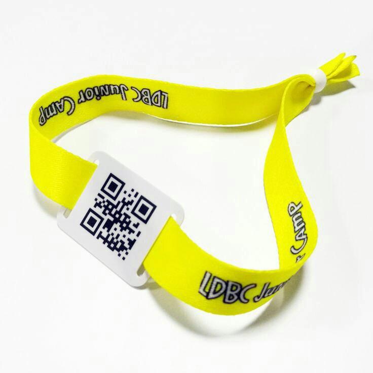 QR Code Fabric Wristbands 1