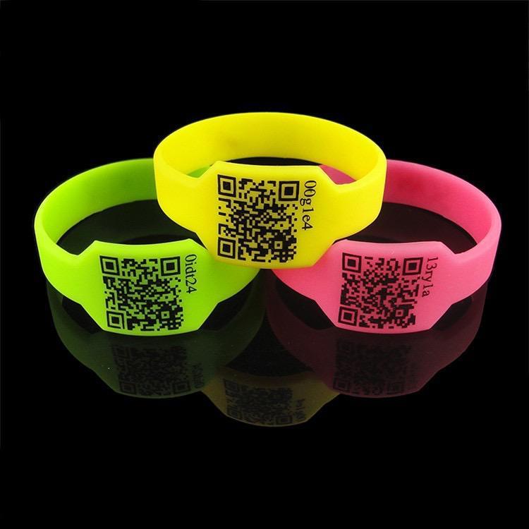 QR Code Silicone Bracelet 1