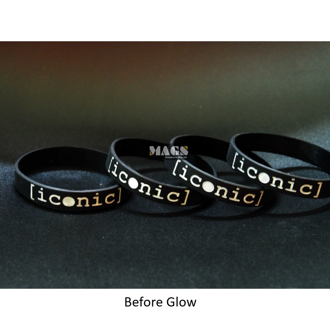 Text Glow In The Dark Wristband 2