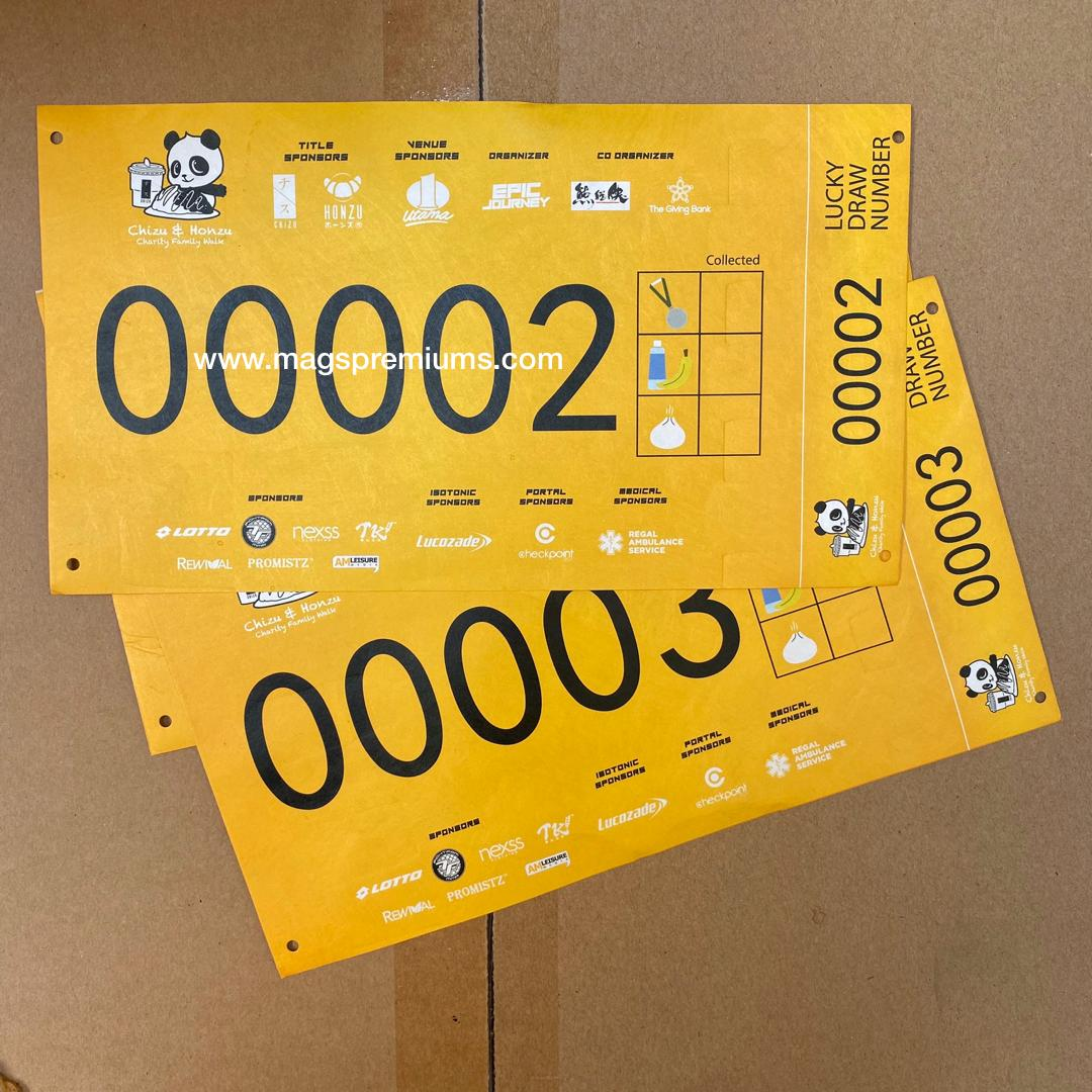 Tyvek Bib with Lucky Draw Coupon 1