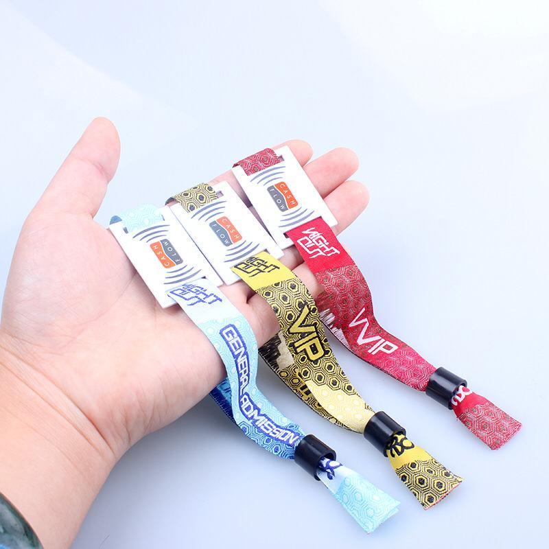 Woven Wristband With QR Code Printing